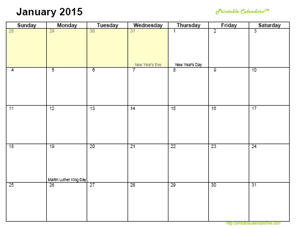 Pics Photos - Fillable Monthly Calendar Template